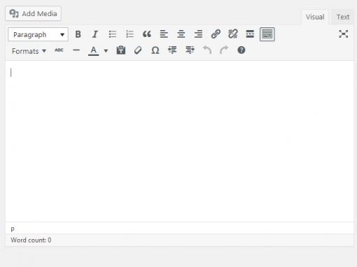 The Visual Editor