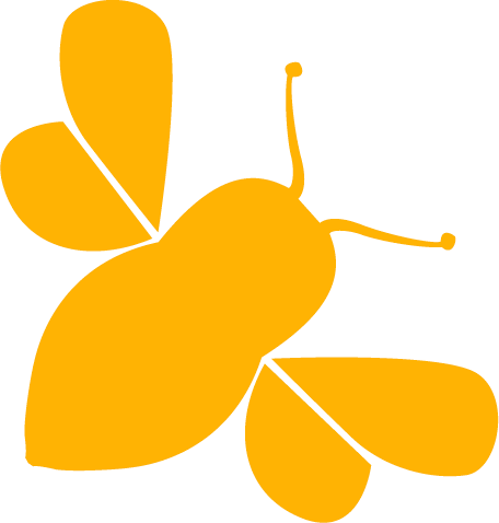 honey bee buzz modern marketing logo