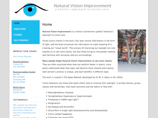 Natural Vision Improvement