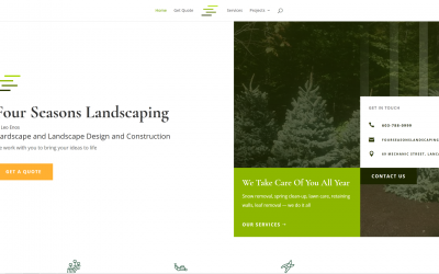Announcing the New Four Seasons Landscaping Website